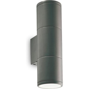 Ideal Lux Lighting Outdoor Up Down Wall Lamp 2 Lights Anthracite Ip44, Gu10 Idl236841
