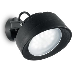 Ideal Lux Lighting Outdoor Wall Lamp 1 Light Black Ip66 Idl247168