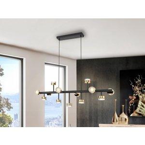 Schuller Lighting Pendant Light Straight Bar, Matt Black, Gold 364355