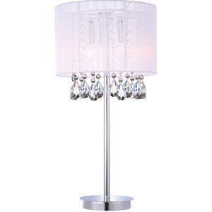 Italux Lighting Table Lamp White 3 Light  With White Cloth Shade, E14 Itlmtm9262/3p Wh
