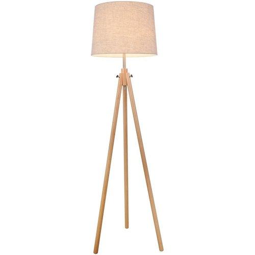Maytoni Lighting Tripod Floor Lamp Brown, 1 Light, E27 Z177 Fl 01 Br