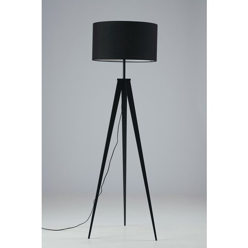Fan Europe Lighting Tripod Floor Lamp With Fabric Shade, Black, E27 Fan I Ibis Pt Nero