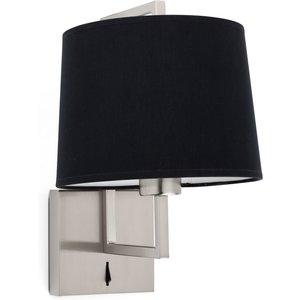 Faro Lighting Wall Light With Shade Nickel, E27 Faro20170 03