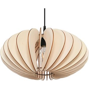 Sollux Lighting Wire Frame Pendant Light Natural Wood E27 Sl.0643