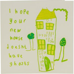 Arthouse Unlimited Hope Your New House Doesn't Have Ghosts Charity Card 459211 Garden & Leisure
