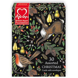 Natural Collection Select Bhf Charity Christmas Card Assortment - Box Of 30 453876 Garden & Leisure