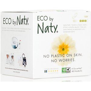 Eco By Naty Womencare Sanitary Towel - Super - Pack Of 13 309292