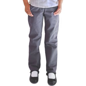 Ecooutfitters Girls Classic Fit Trousers - Grey - 3yrs Plus 385412