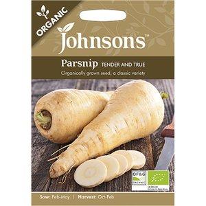 Johnsons Seeds Johnsons Organic Parnsip Seeds - Tender & True 488559 Garden & Leisure
