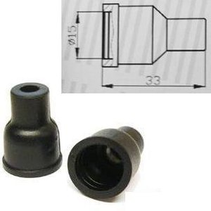 Pattern 4x Ht Silicone Pvc Insulators For Distributor Cap - 7mm 8mm Straight Black