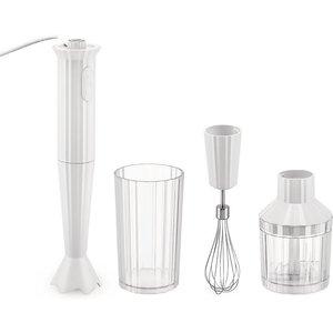 Alessi Hand Blender Set - Plisse White Mdl10sw/uk Kitchen, White