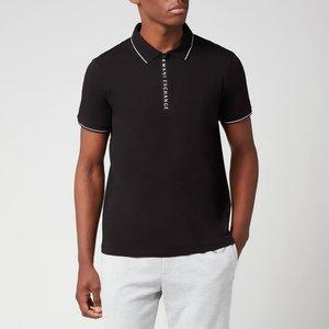 Armani Exchange Men's Placket Detail Polo Shirt - Black - Xl 8nzf71 Zjh2z 1200 General Clothing, Black