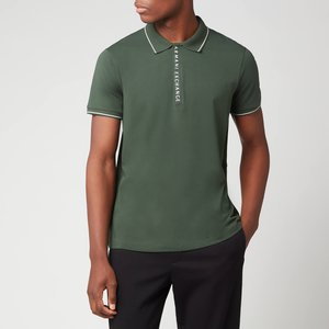 Armani Exchange Men's Placket Detail Polo Shirt - Deep Forest - M 8nzf71 Zjh2z 1863 General Clothing, Green