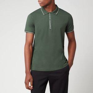 Armani Exchange Men's Placket Detail Polo Shirt - Deep Forest - L 8nzf71 Zjh2z 1863 General Clothing, Green