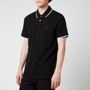 Armani Exchange Men's Tipped Polo Shirt - Black - S 8nzf75 Z8m5z 1200 Mens Tops, Black