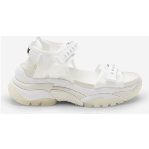 Ash Women's Ace Ripstop Chunky Sandals - White/white - Uk 7 Ss21 S 133427 004 Mens Footwear, White