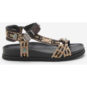 Ash Women's Ugo Ethnic Ribbon Sandals - Black - Uk 4 Ss21 M 134745 002 Mens Footwear, Black