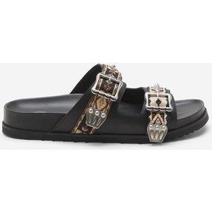 Ash Women's Ulysee Ethnic Ribbon Double Strap Sandals - Black - Uk 6 Ss21 M 134744 002 Mens Footwear, Black
