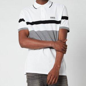 Barbour International Men's Clax Stripe Polo Shirt - White - M Mml1111wh11 Mens Tops, White