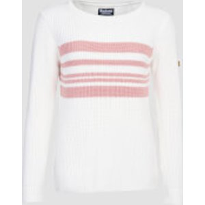 Barbour International Women's Downforce Knitted Jumper - Off White - Uk 12 Lkn1095wh12 Womens Clothing, White