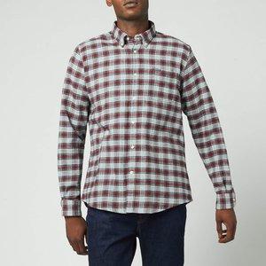 Barbour Men's Alderton Tailored Shirt - Red - L Msh5033gy52 General Clothing, Multi