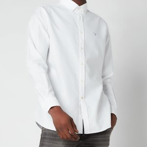 Barbour Men's Oxford 3 Tailored Fit Shirt - White - S Msh4483wh11 Mens Tops, White