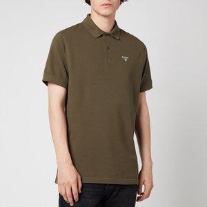 Barbour Men's Sports Polo Shirt - Olive - M Mml0358ol71 Mens Tops, Green