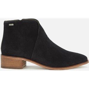 Barbour Women's Caryn Suede Heeled Ankle Boots - Black - Uk 7 Lfo0405bk12 Womens Footwear, Black