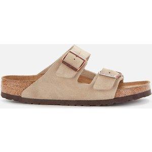 Birkenstock Men's Arizona Sfb Suede Double Strap Sandals - Taupe - Eu 43/uk 9 951301 Mens Footwear, Beige