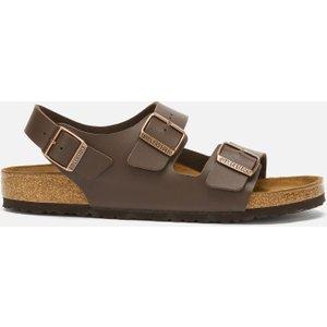 Birkenstock Men's Milano Double Strap Sandals - Dark Brown - Eu 42/uk 8 34701 Mens Footwear, Brown