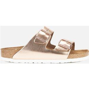 Birkenstock Women's Arizona Leather Double Strap Sandals - Metallic Copper - Eu 36/uk 3.5 952093 Womens Footwear, Gold
