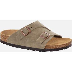 Birkenstock Women's Zurich Sfb Suede Slide Sandals - Taupe - Eu 41/uk 7.5 1009533 Mens Footwear, Beige