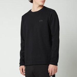 Boss Athleisure Men's Salbo Sweatshirt - Black - Xxl 50455074 001 Mens Tops, Black