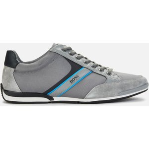 Boss Athleisure Men's Saturn Low Trainers - Medium Grey - Uk 10 50407672 031 Mens Footwear, Grey