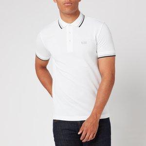 Boss Men's Paddy Tipped Polo Shirt - White - M - White 50198254 100 Mens Tops, White