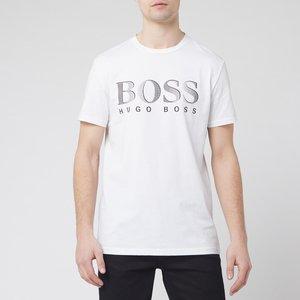 Boss Men's T-shirt Large Logo Rn - White - Xxl 50407774 107 Mens Tops, White