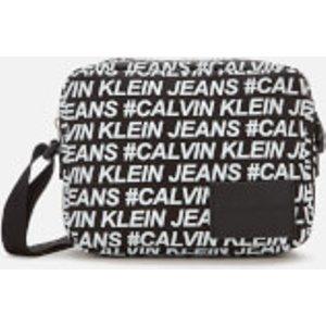 Calvin Klein Jeans Women's Sport Essentials Multi Logo Camera Bag - Black/white K60k606812bds Womens Accessories, Black