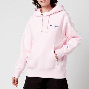 Champion Women's Small Script Hooded Sweatshirt - Light Pink - S 113150 General Clothing, Pink