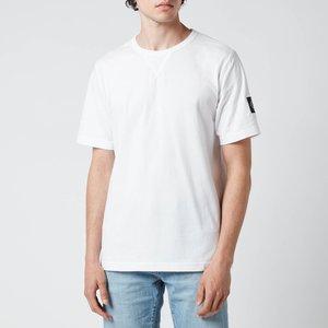 Calvin Klein Jeans Men's Organic Cotton Badge T-shirt - White - S J30j314051yaf General Clothing, White