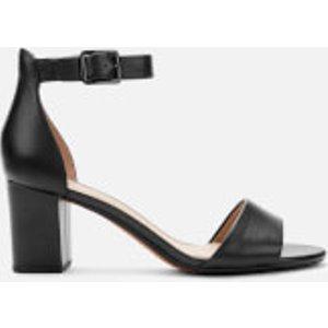 Clarks Women's Deva Mae Leather Block Heeled Sandals - Black - Uk 4 26140007 Womens Footwear