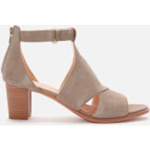 Clarks Women's Kaylin 60 Glad Suede Heeled Sandals - Sage - Uk 6 26150380 Womens Footwear, Green