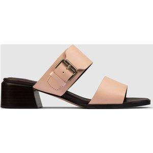 Clarks Women's Landra35 Leather Heeled Mules - Pale Pink - Uk 4 26160768 Womens Footwear, Pink
