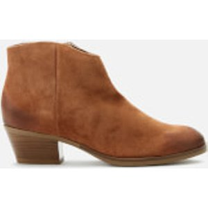 Clarks Women's Mila Myth Suede Heeled Ankle Boots - Tan - Uk 4 26146245 Womens Footwear