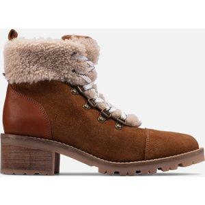 Clarks Women's Roseleigh Sky Suede Heeled Hiking Style Boots - Dark Tan - Uk 6 26155699 Mens Footwear, Tan