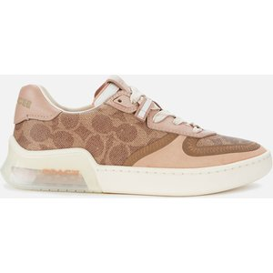 Coach Women's Citysole Signature Print Court Trainers - Tan/beachwood - Uk 3 G5043 Oy7 Womens Footwear, Tan