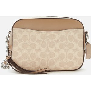 Coach Women's Coated Canvas Signature Camera Bag - Sand Taupe 31208 Lhpvt Womens Accessories, White
