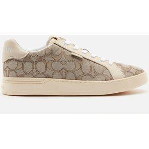 Coach Women's Lowline Jacquard Trainers - Stone/chalk - Uk 5 G5037 E4v Mens Footwear, Grey