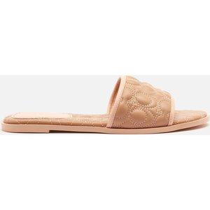 Coach Women's Olivea Quilted Leather Slide Sandals - Beechwood - Uk 6 C4406 Eqo Mens Footwear, Nude