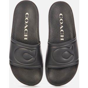 Coach Women's Ula Rubber Slide Sandals - Black - Uk 4 C4416 Blk Mens Footwear, Black