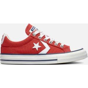 Converse Kids' Star Player Ox Trainers - Enamel Red - Uk 1 Kids 671111c Childrens Footwear, Red
